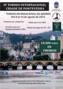 Cartel IV Torneo Internacional Cidade de Pontevedra